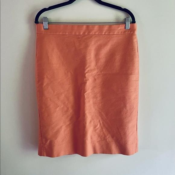 J. Crew No. 2 Pencil Skirt Orange sz 12